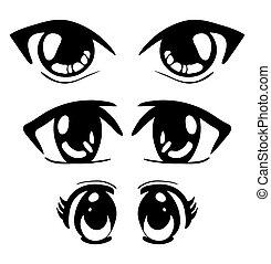 manga eyes vector symbol icon design. Beautiful illustration isolated on white background