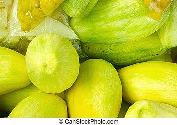 manga, fruit.