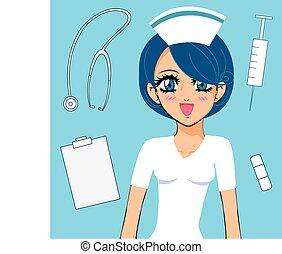manga girl nurse