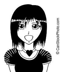 manga, ragazza