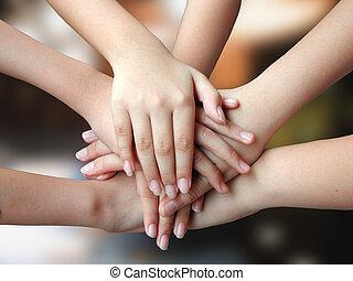 mange, 4success, hænder