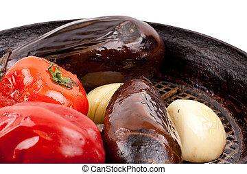 mange, grønsager, ind, en, skål