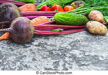 mange, grønsager, lukke