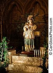 mangeoire, nativité, notre-dame, scène, cathédrale