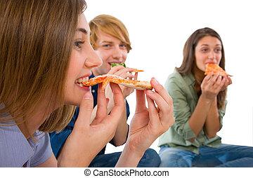 manger, ados, pizza