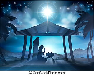 Manger Nativity Christmas Scene - Christmas Nativity Scene...