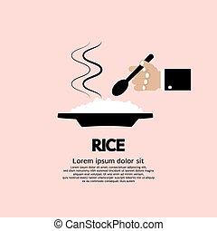 manger, rice.