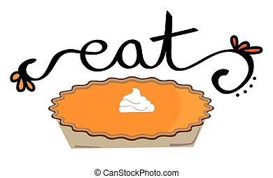 manger, thanksgiving, tarte citrouille