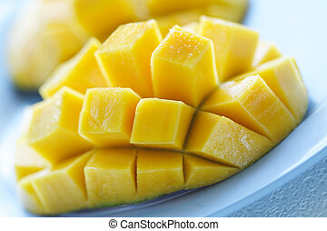 Mango - A closeup shot of a ripe and juicy mango