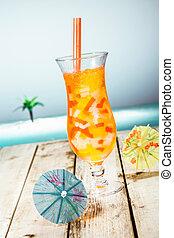 Mango Boba Cocktail Tea