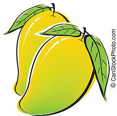 Mango design on white background