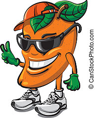 mango fruit cartoon - mango fruit advertising cartoon