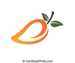 Mango fruits logo and symbols app icons template