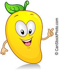 Mango Gesture - Illustration of a Mango Character Gesturing...