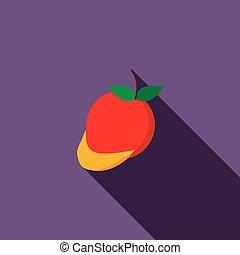Mango icon, flat style