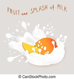 mango - Vector icon illustration logo for ripe exotic fruit...