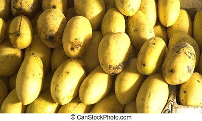 Mango in the fruit market - Mango in the street market. Ripe...