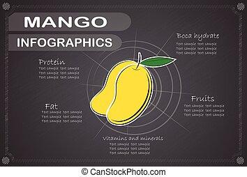 Mango Infographics , Fruit . vector illustration