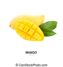 Mango isolated on white background.