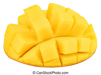 mango isolated on white background, top view