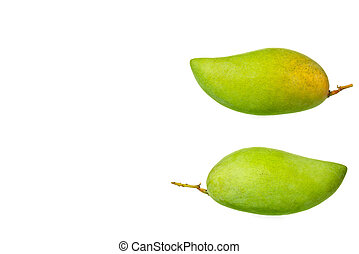 Mango isolated on white background with clipping path.