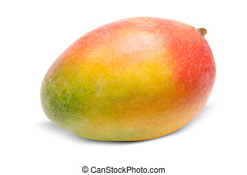 Mango isolated on white - Juicy dessert mango isolated on...