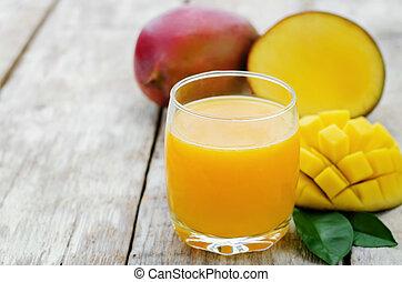 mango juice and fresh mango