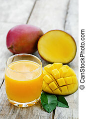 mango juice and fresh mango
