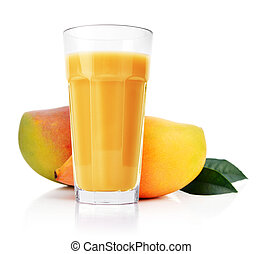 Mango juice in glass