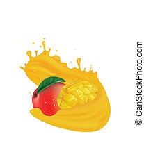 Mango juice splash