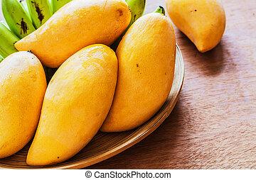 Mango on a tray