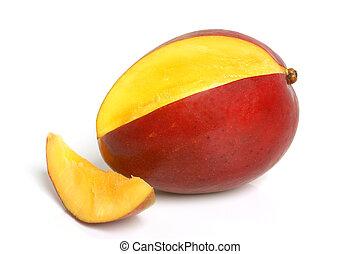 Mango on the white background