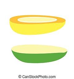 Mango Slices Vector
