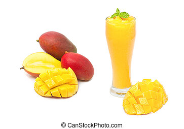 mango smoothie drink, healthy drink