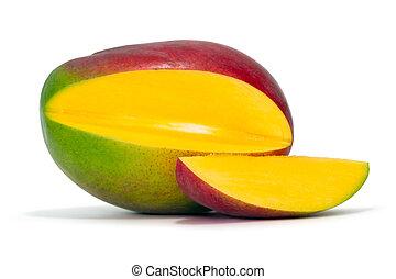 mango - fresh mango over white background with clipping path
