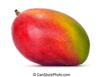 mango over white background