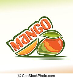 Mango - Vector illustration on the theme of the logo for...