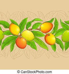 mango vector pattern on color background