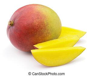 Mango with slices