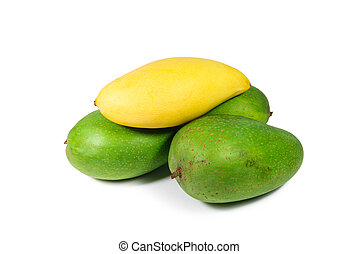 Mangoes on white background