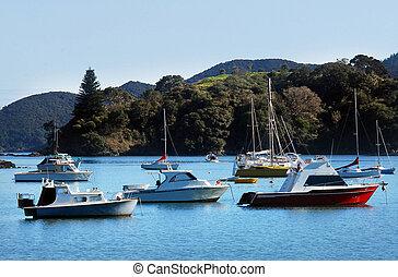 Mangonui, New Zealand - Harbor view of Mangonui, Northland,...