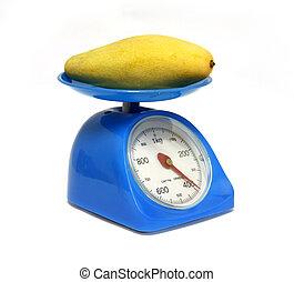 mangos on scales