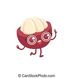 Mangosteen Girly Cartoon Character