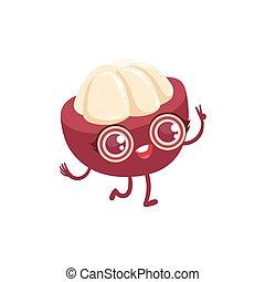Mangosteen Girly Cartoon Character