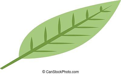 Mangosteen leaf icon, isometric style