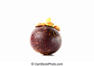 mangosteen with whit background