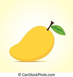 mangowiec, owoc, świeży, projektować