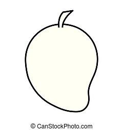 mangowiec, owoc, ikona