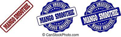 mangue, smoothie, gratté, timbre, cachets