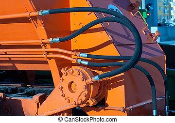 mangueras, hidráulico, tractor
